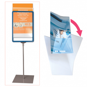 Экран защитный для рамки POS А4 (код 290250,290251,290252,290253), прозрачный, 290262