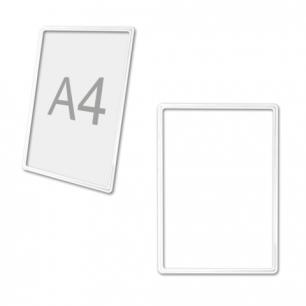Рамка POS для ценников, рекламы и объявлений А4, БЕЛАЯ, без защитного экрана, 290701