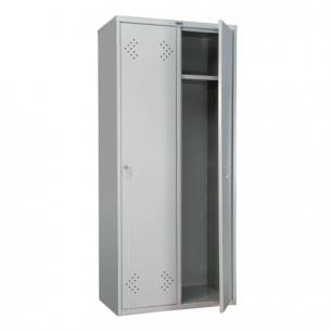 """Шкаф металлический для одежды ПРАКТИК """"LS-21-80"""", двухсекционный (в1830*ш813*г500мм;40кг), разборный"""