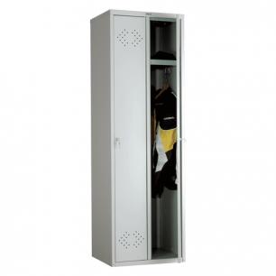 """Шкаф металлический для одежды ПРАКТИК """"LE-21C"""", 2 секции, в сборе (в1830*ш575*г500мм;33кг)"""