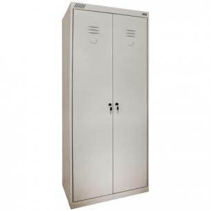 Шкаф металлический хозяйственный ШМ-У 22-800, двухсекционный (в1850*ш800*г500мм;38кг), разборный