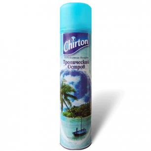"""Освежитель воздуха аэрозольный CHIRTON (Чиртон)  300 мл, """"Тропический остров"""", ш/к 43909"""