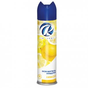 """Освежитель воздуха аэрозольный RIO ROYAL (Рио Роял)  300 мл, """"Лимон"""", ш/к 22759"""