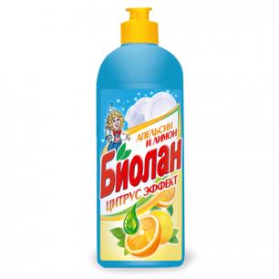 """Средство для мытья посуды БИОЛАН 500мл, """"Апельсин и лимон"""", ш/к 11162"""