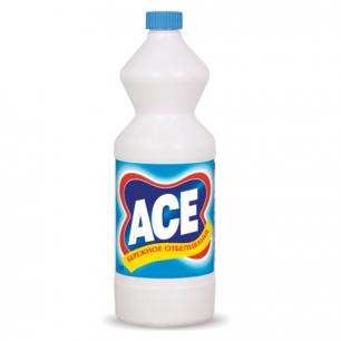 Средство для отбеливания и чистки тканей ACE (Ас)  1000мл, для белой ткани, ш/к 91570