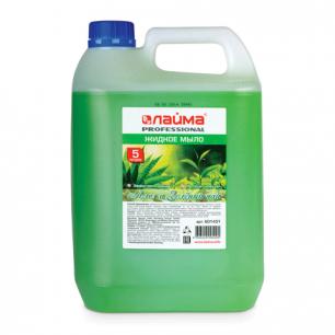 """Мыло жидкое ЛАЙМА PROFESSIONAL 5л, """"Алоэ и Зеленый чай"""", 601431"""
