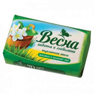 """Мыло туалетное ВЕСНА 90г, """"Жасмин и зелёный чай"""", 6084"""