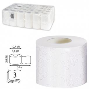 Бумага туалетная 20м, VEIRO Professional Premium, КОМПЛЕКТ 48шт., 3-сл, (дисп. 601826)  T309