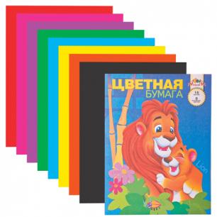 Цветная бумага А4 200*290мм АППЛИКА, 16л., 8цв., С0005