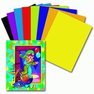 Цветная бумага А4 200*283мм ПИФАГОР 16л. 8цв., Гномик на карнавале, 121009