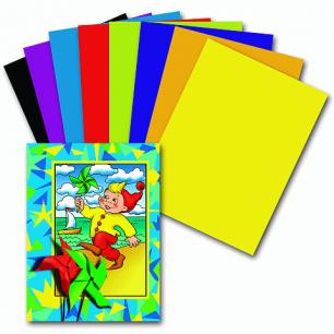 Цветная бумага А4 200*283мм ПИФАГОР 16л. 8цв., Гномик на море, 121007