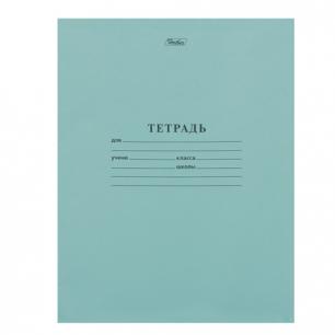 "Тетрадь 12л. Зелёная обложка ""Хатбер"", офсет, линия с полями, 12Т5D (С) 2 (T52433)"