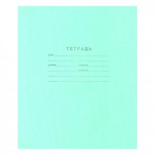 """Тетрадь 12л. Зелёная обложка """"Маяк"""", офсет, клетка с полями, Т5012Т2 5Г"""