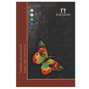 Папка для пастели/планшет А4 210х297мм, 20л.тонир.бумага 200г/м, склейка, 4цв, тв.подл, Бабочка, ПБ/А4