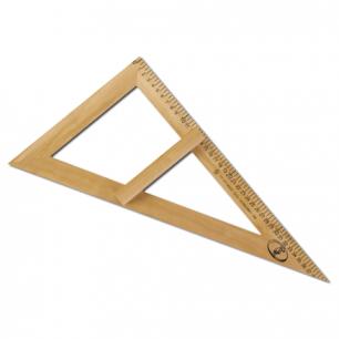 Треугольник деревянный классный 60*30*40см, прямоугольный, С364