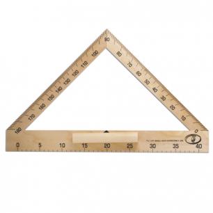 Транспортир деревянный классный 40 см, 180 град, С176