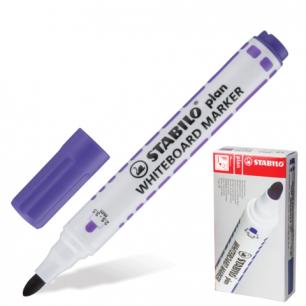 """Маркер для доски STABILO """"Plan"""", пулевидный наконечник 2,5-3,5 мм, 641/55, фиолетовый"""