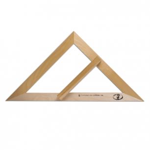 Треугольник деревянный класный 45*45*49 см, равнобедренный, без шкалы, С370