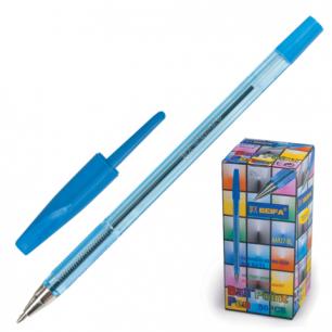 Ручка шариковая BEIFA 927, корпус прозрачный, металл. наконечник, 0,7мм, AA927-BL, синяя
