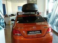 Автомобильный бокс на крышу Koffer A-430, 430 литров, черный матовый