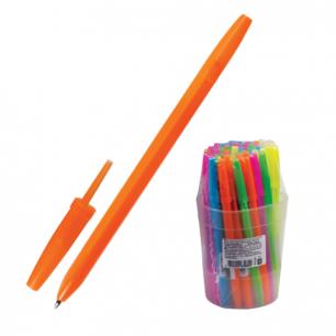 """Ручка шариковая СТАММ """"Оптима"""", корпус ассорти неон, толщина письма 0,7мм, РО10, синяя"""