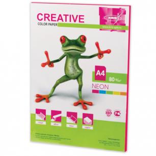 Бумага CREATIVE color (Креатив)  А4,  80г/м, 50 л. неон малиновая, БНpr-50м, ш/к 44868