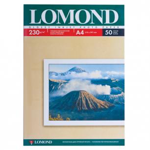 Фотобумага LOMOND д/струйной печати А4, 230г/м, 50л., односторонняя, глянцевая (0102022)