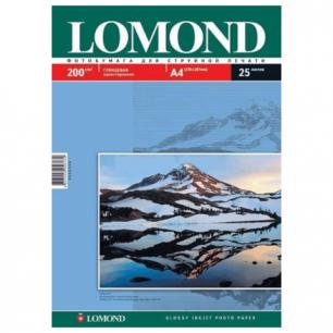 Фотобумага LOMOND д/струйной печати, А4, 200 г/м2, 25л., односторонняя, глянцевая 0102046