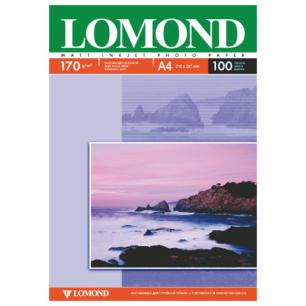 Фотобумага LOMOND д/струйной печати, A4, 170 г/м2,100 л., двухсторонняя, матовая 0102006