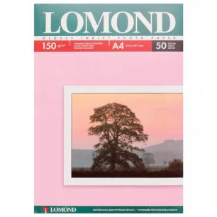 Фотобумага LOMOND д/струйной печати, A4, 150 г/м2, 50 л., односторонняя, глянцевая 0102018