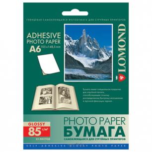Фотобумага LOMOND д/струйной печати 105*148,5, 85 г/м2, 25 л., глян. самокл.2413003
