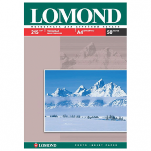 Фотобумага LOMOND д/струйной печати, A4, 215 г/м2, 50 л., односторонняя, глянцевая 0102057
