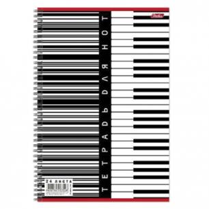 """Тетрадь для нот А4, 24л., """"Хатбер"""", спираль, вертик., Клавиши, 24ТдН4сп_04040 (T024782)"""