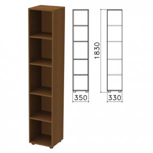 """Шкаф (стеллаж)  """"Канц"""" (ш350*г330*в1830 мм), 4 полки, цвет орех, КК32.9"""