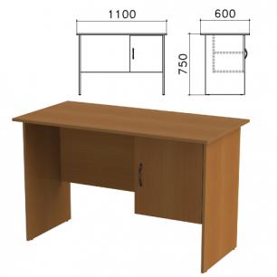 """Стол письменный """"Канц"""" (ш1100*г600*в750 мм), тумба с дверью, цвет орех, СК26.9"""