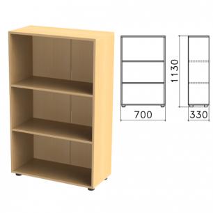 """Шкаф (стеллаж)  """"Канц"""" (ш700*г330*в1130 мм), 2 полки, цвет бук, ШК39.10"""
