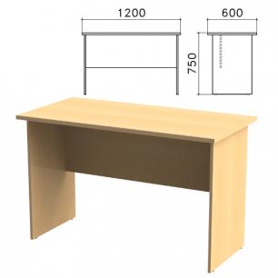 """Стол письменный """"Канц"""" (ш1200*г600*в750 мм), цвет бук, СК22.10"""