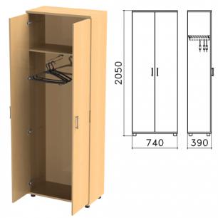 """Шкаф для одежды """"Монолит"""" (ш740*г390*в2050 мм), цвет бук, ШМ49.1"""