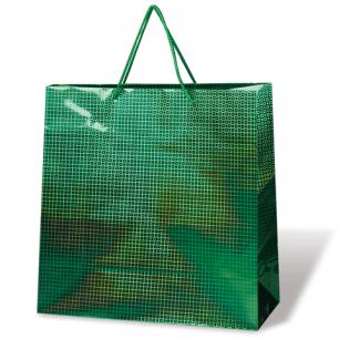 Пакет подарочный ламинированный 33х45х10, голографический, цвет ассорти, шк07776