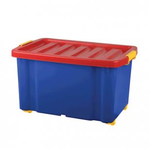 """Ящик для хранения игрушек """"Jumbo"""", 60л, (в39,3*ш59,3*г33,9, см)  на колесах, с крышкой, PT9946"""