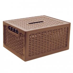 """Ящик 17л для хранения универсальный IDEA, """"Ротанг"""", с крышкой, (в19*ш37*г28см), бежевый, М 2375"""