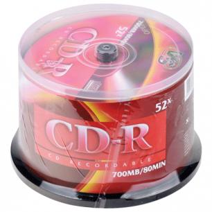 Диски CD-R VS 700Mb 52x 50шт Cake Box VSCDRCB5001 (ш/к - 20106 )