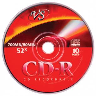 Диск CD-R VS 700Mb 52х бумажный конверт