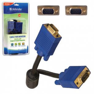Кабель VGA/SVGA DEFENDER BB340M-06PRO, 1,8м, для передачи аналогового видео, 1фильтр, 87405