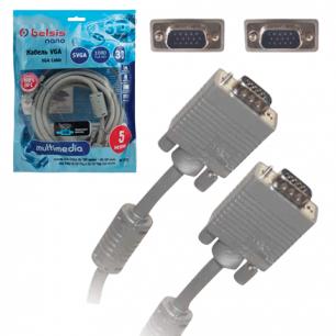 Кабель VGA/SVGA BELSIS, 5м, для передачи аналогового видео, 1 фильтр, BW1473