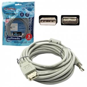 Кабель USB 2.0 AM-AF BELSIS, 5м, удлинитель USB-порта, c ф/фильтром, BW1405