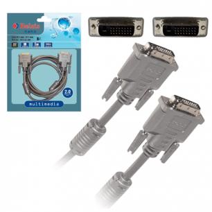 Кабель DVI-D Dual Link BELSIS 2м, для высокоскоростной передачи цифрового видео, 2 фильтра BW1470