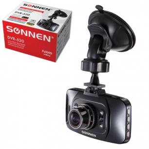 Видеорегистратор автомоб. SONNEN DVR-520, FullHD, 175°, экран 2,7'', G-сенсор, microSDHC, HDMI, 352867