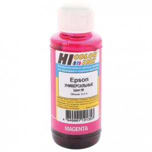 Чернила EPSON универсальные, пурпурный 0,1л  HI-COLOR СОВМЕСТИМЫЕ
