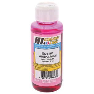 Чернила EPSON универсальные, светло-пурпурный 0,1л HI-COLOR СОВМЕСТИМЫЕ